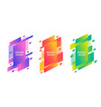 colorful trendy banners set vector image vector image