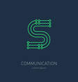 Connection System - logo design template letter S vector image vector image