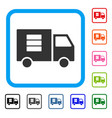 data transfer van framed icon vector image vector image