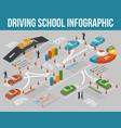 driving school infographics vector image
