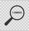 e-commerce word magnifying glass vector image