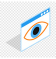 file hide isometric icon vector image