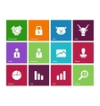 Finance icons on color background vector image vector image