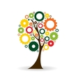 Gear Icon Tree Sign vector image