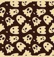 halloween seamless pattern with cute ghosts and vector image vector image