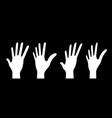 hands up set perspective vector image