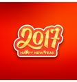 Happy New Year 2017 greeting card vector image vector image