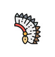indian chief headdress native american flat vector image vector image