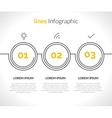 Infographic with circles pointers 3 steps vector image vector image