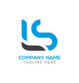 initial ls letter business logo design template vector image vector image