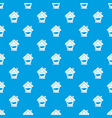 insurance house pattern seamless blue vector image vector image