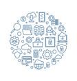 internet round concept outline blue vector image