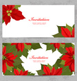 invitation cards with poinsettia for your design vector image vector image