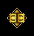 letter bb golden mirror