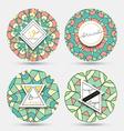 Mandala kaleidoscope vintage style Grange mandala vector image