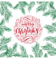 merry christmas text calligraphic lettering vector image vector image