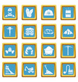 miner icons azure vector image vector image