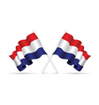 netherlands flag vector image vector image