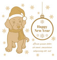 new year greeting card or square banner vector image vector image