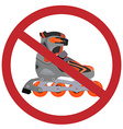 No rollerblades sign vector image vector image