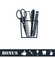 Office tools icon flat vector image vector image