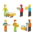 Peope Workers in Warehouse Interior Isoated vector image vector image