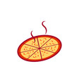 pizza and food logo icon design vector image