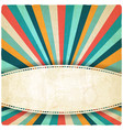 retro colors striped vintage background vector image