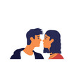 romantic man and woman couple in love isolated vector image