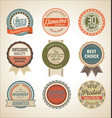 sale retro labels collection vector image vector image