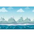 Seamless cartoon winter landscape for vector image