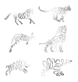 set of animals made from ribbon vector image vector image