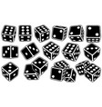 set of different black dice vector image vector image