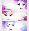 Set of fashion banners vector image vector image