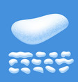 snow caps set isolated on blue background vector image