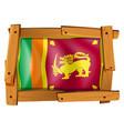sri lanka flag in wooden frame vector image vector image