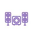 subwoofer and speakers icon vector image vector image