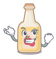 successful apple cider isolated with mascot vector image vector image