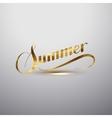 Summer retro label vector image vector image