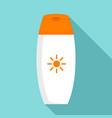 sunscreen bottle cream icon flat style vector image vector image