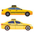 taxi cars set cab service in city transportation vector image