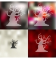tree icon on blurred background vector image vector image