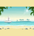 tropical beach landscape with boat vector image vector image