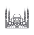 turkish mosque line icon sig vector image vector image
