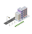 urban buildings and construction vector image