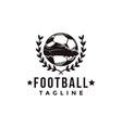 vintage football soccer sport team league logo vector image vector image