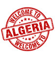welcome to algeria vector image vector image