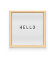 white letter board vector image vector image
