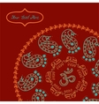 Indian style circle background for your design vector image