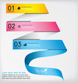 Abstract business infographics template ribbon vector image vector image